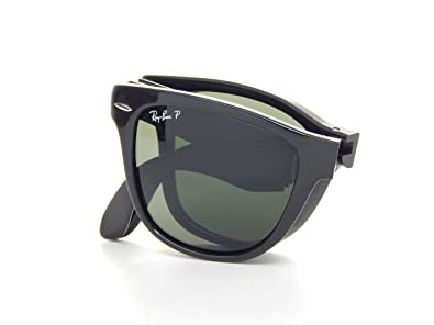 43da36484d124 Ray Ban Folding Wayfarer RB4105 601 58 Glossy Black Polarized Gray 50mm  Sunglasses