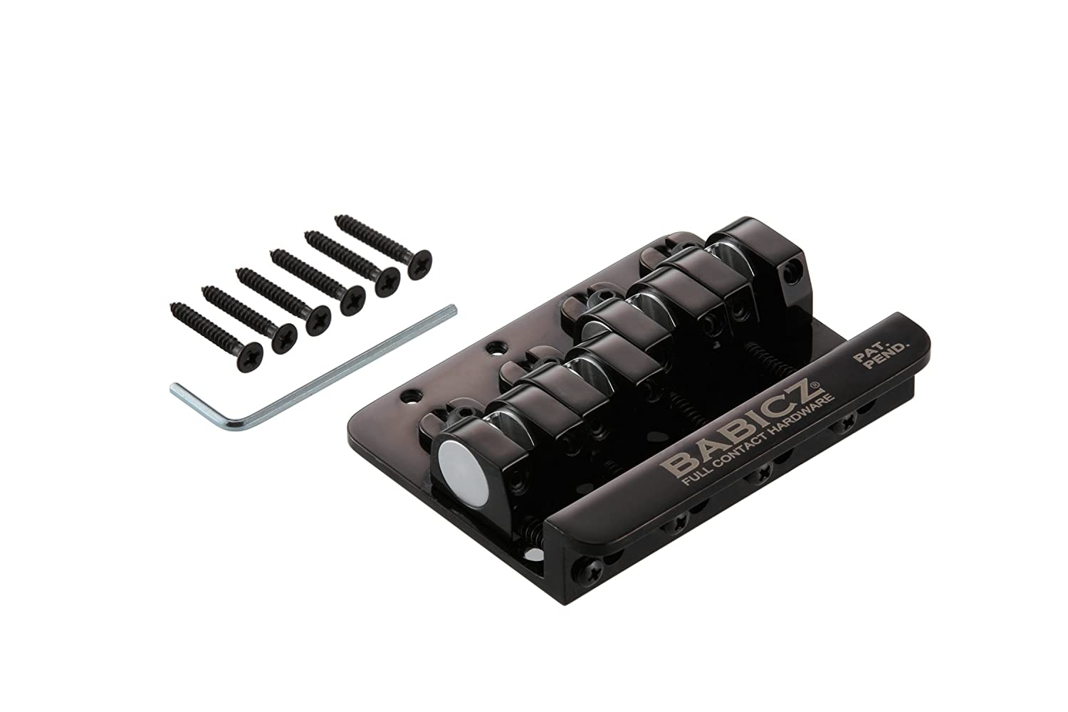 Babicz Full Contact Hardware 4-String Bass Bridge - Black FCH4BKP