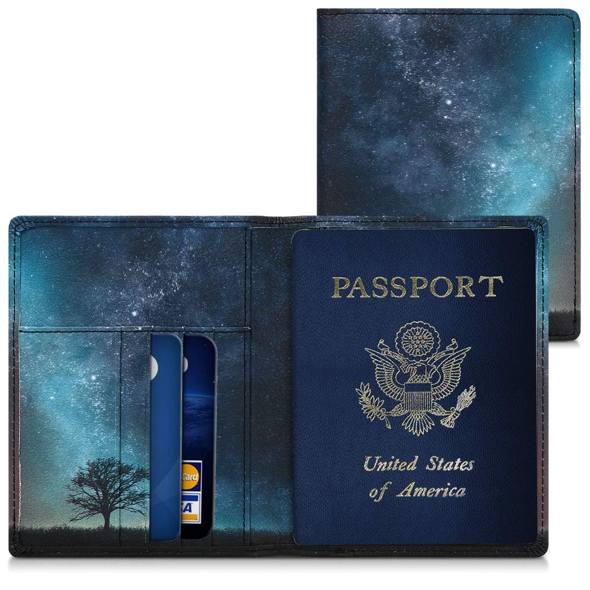 Funda para pasaporte de cuero artificial varios estilos
