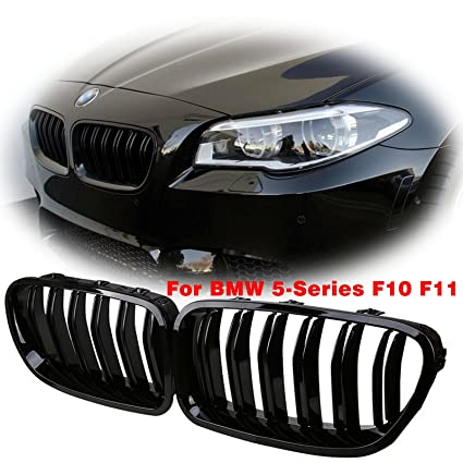 X Xotic Tech Front Grille Grill Kidney For Bmw 5 Series F10 F11 M5 528i 550i 2011 2016 Painted Glossy Black Two Pieces