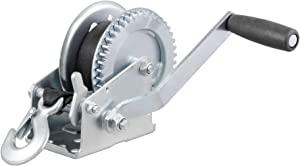 CURT 29435 Manual Hand Crank Boat Trailer Winch, 1,400 lbs Capacity, 7-1/2