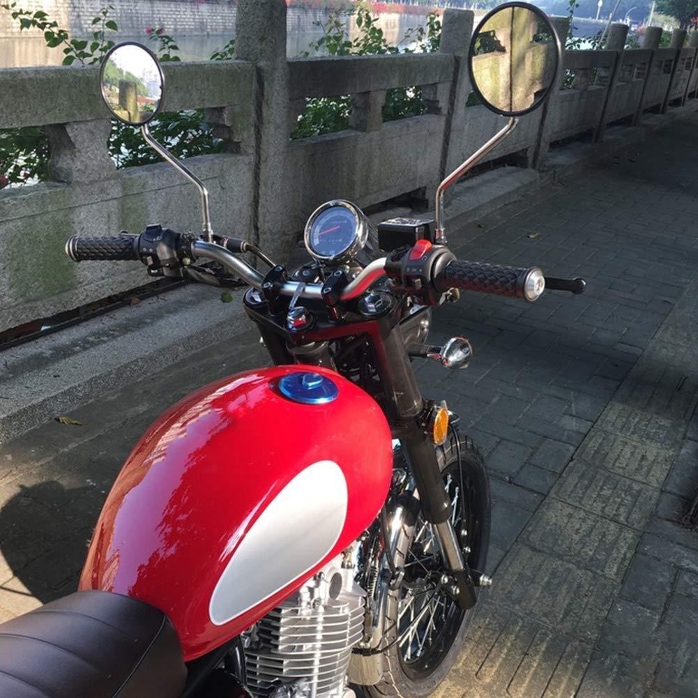 Manillar de la Motocicleta Manillar Modificado Motocicleta Retro de la Aleaci/ón de Aluminio del Di/ámetro de 22m m Plano Matte Silver