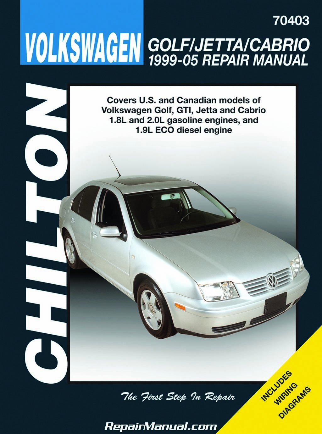 CH70403 Volkswagen Golf Jetta GTI Repair Manual 1999-2005 Chilton:  Manufacturer: Amazon.com: Books