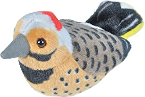 Wild Republic Audubon Northern FlickerPlush with Authentic Bird Sound, Stuffed Animal Toys for Kids and Birders