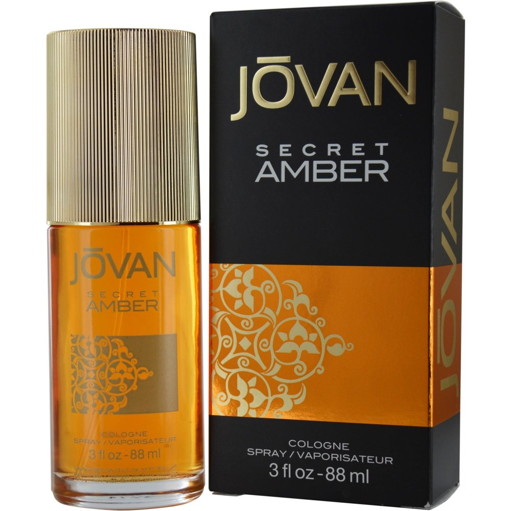 Jovan Cologne Spray, Secret Amber, 3 Ounce 3607346222577