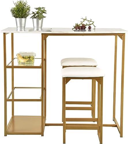 SHA CERLIN Modern Dining Kitchen Table Set/Bar Table Set