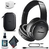 Bose QuietComfort 35 Series II Wireless Noise-Canceling Headphones (Black) (789564-0010) + Headphone Cleaner + USB Power Adap
