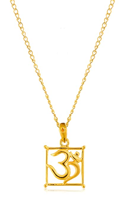 Bhima Jewellers 22Kt Yellow Gold Om Locket Pendants