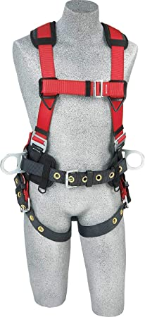 Protecta 1191210Pro Line Construction Vest Style Full Body Harness Extra Large Red//Gray//Black 5 Pack