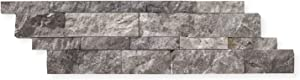 Silverado Gray Marble 6 X 20 Stacked Ledger Wall Panel Tile, Split-faced (SMALL SAMPLE PIECE)