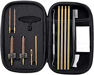 BOOSTEADY Pro .223/5.56 Cleaning Kit with Bore Chamber Brushes Cleaning Pick Kit, Brass Cleaning Rod in Zippered Organizer Compact Case