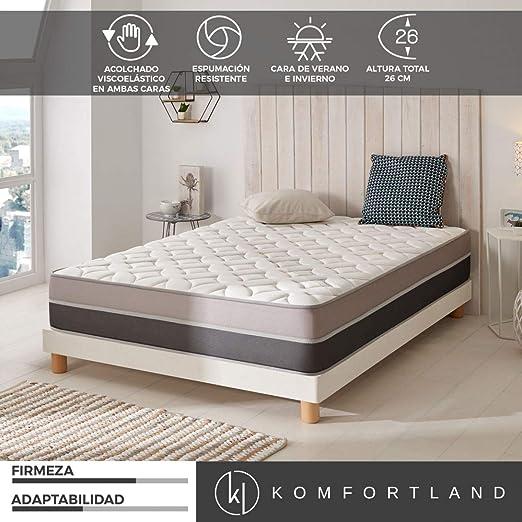 Komfortland Colchon 135x180 viscoelastico Memory Advance de Altura 26cm, 6 cm Viscosensitive: Amazon.es: Juguetes y juegos
