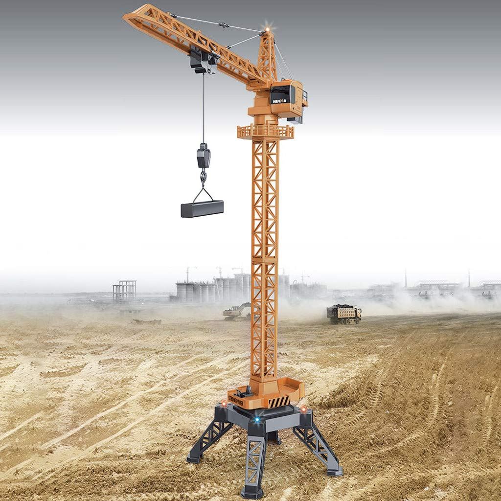 Lifting Cranes Radio Remote Control Crawler Tower Construction Truck Engineering Alloy Vehicle Hoist Dragline Truck RC Car RTR Play Toys Car 1572 1/14 2.4G 15CH Christmas for Kids by TLoowy-Kids Toys