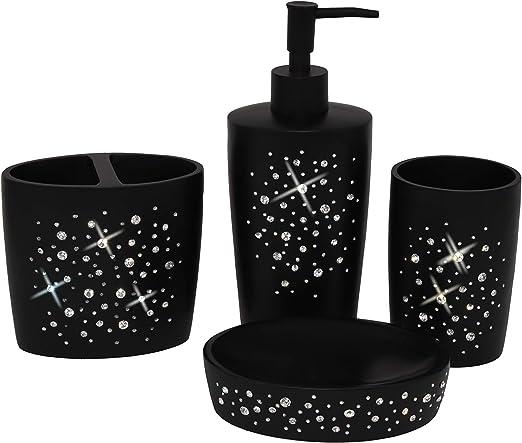 Amazon Com Wodlo Star All Sky Bathroom Accessories Set Complete Bath Accessory Sets Includes Soap Dispenser Toothbrush Holder Tumbler Soap Dish Home Kitchen