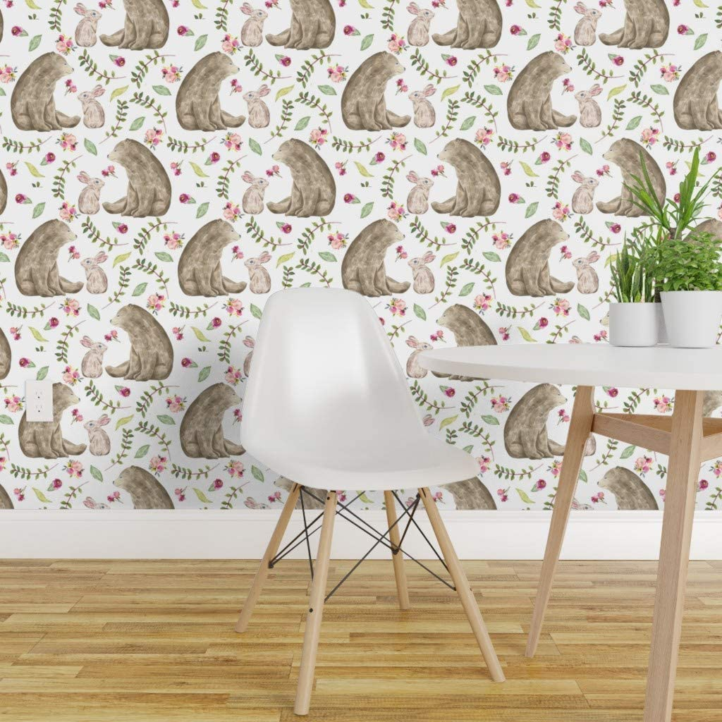 Spoonflower Peel And Stick Removable Wallpaper Baby Girl Floral