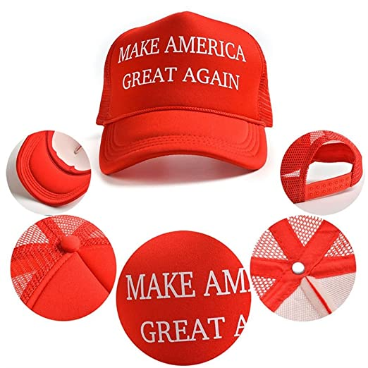 59eeb4b98bc Image Unavailable. Image not available for. Color  beBettform Cotton  Adjustable Donald Trump Hat Red Mesh Cap Latest Republican Make America  Great Again