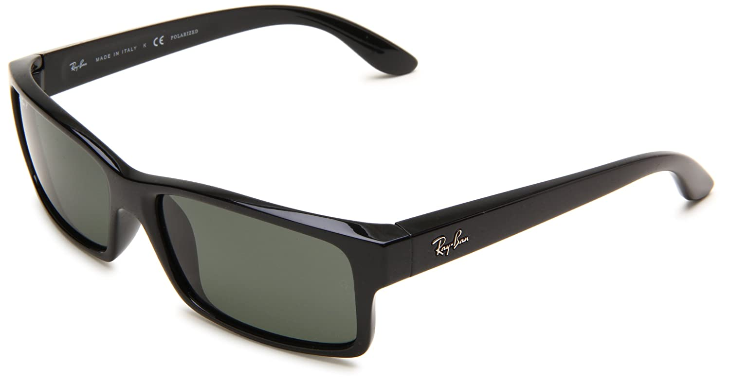 6e8c641546 Amazon.com  Ray-Ban RB4151 - BLACK Frame CRYSTAL GREEN POLARIZED Lenses  59mm Polarized  Clothing