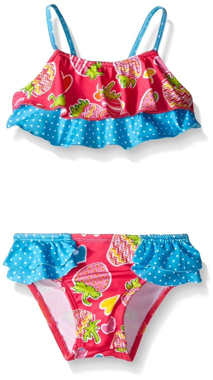 Pink Platinum Baby Girls' Strawberry and Heart Bikini PP669274