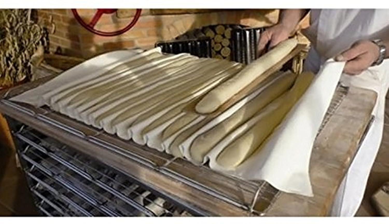 2 pieza Panadero Couche - Lino Proofing paño para baguettes y pan, 36*45cm: Amazon.es: Hogar