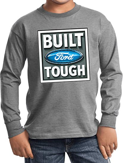 2439c9e0c3a Ford Hoody Hoodie Classic Built Source · Amazon com Built Ford Tough Kids  Long Sleeve Shirt Clothing