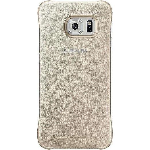 40 opinioni per Samsung Custodia Protective Cover in Similpelle per Galaxy S6 edge, Oro [EU]