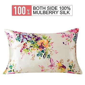 Amazon.com: SLPBABY Funda de almohada de seda para cabello y ...
