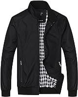 Chouyatou Men's Active Lightweight Softshell Zipper Bomber Jacket