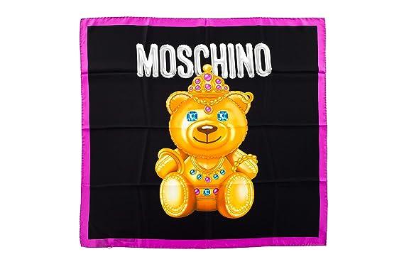 MOSCHINO - Foulard - Femme Multicolore Noir Taille unique  Amazon.fr ... d784583c8e2f