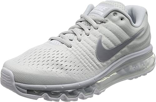 Nike Men's Air Max 2017 Running Shoes Pure Platinum 849559