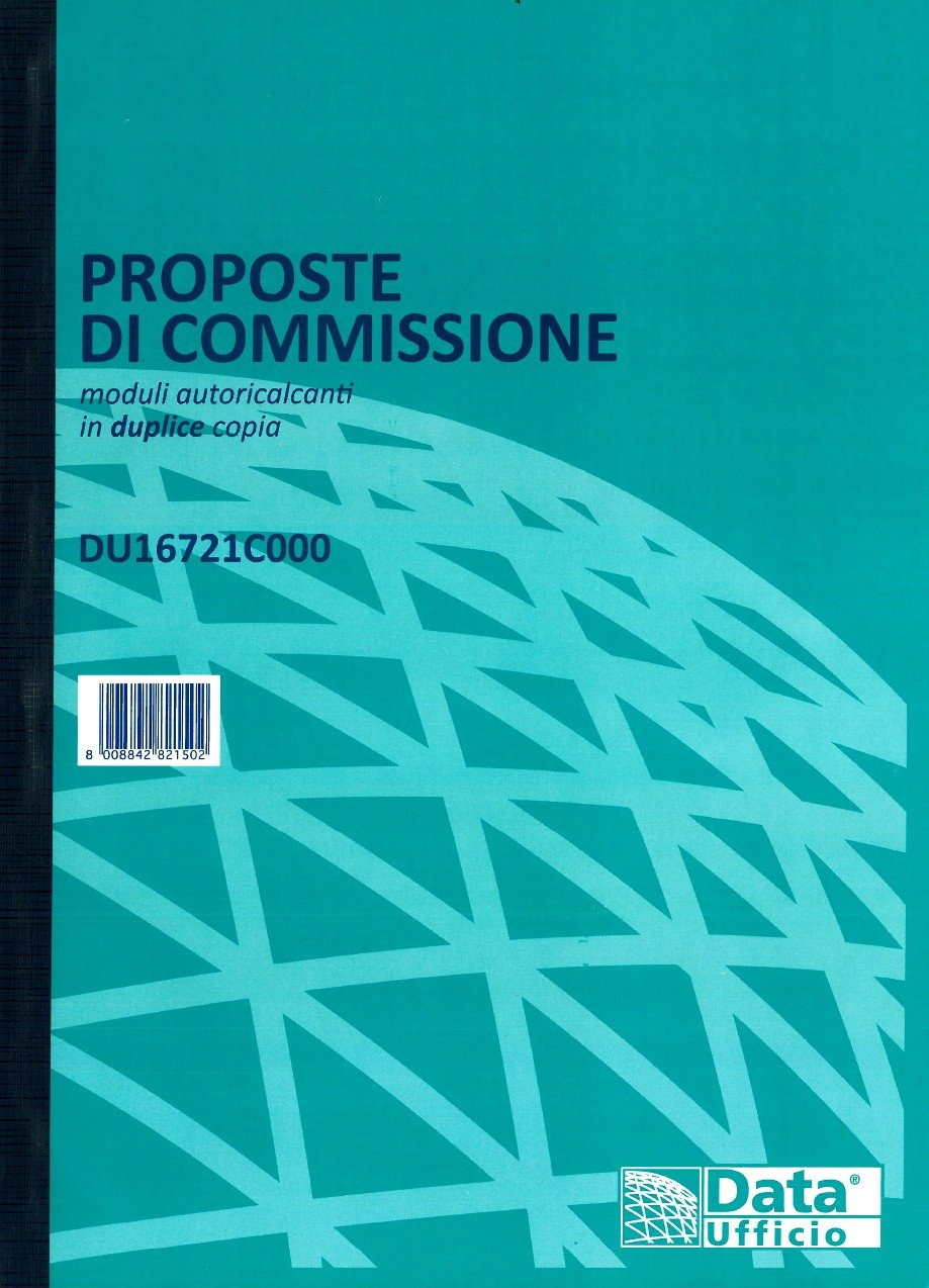 Blocco PROPOSTE DI COMMISSIONE DU16721C000 21x30 Gruppo Buffetti