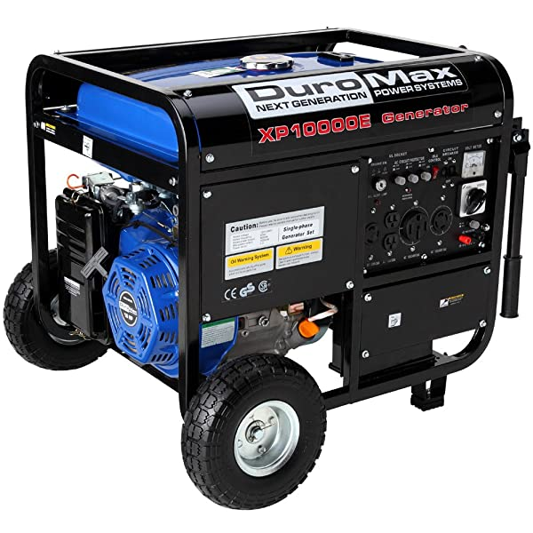 DuroMax XP10000E, 8000 Running Watts/10000 Starting Watts, Gas Powered Portable Generator