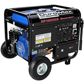 com duromax xpe running watts starting duromax xp10000e 8000 running watts 10000 starting watts gas powered portable generator