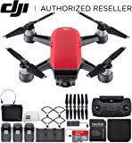 DJI Spark Portable Mini Drone Quadcopter Fly More Combo Ultimate Bundle (Lava Red)