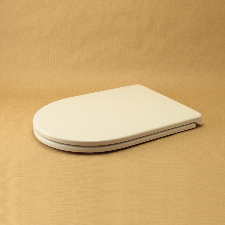 Toilettensitz für FALERII Duetto rund Weiß mit normalem oder langsamem langsamem langsamem Edelstahl-Reißverschluss 340ffd