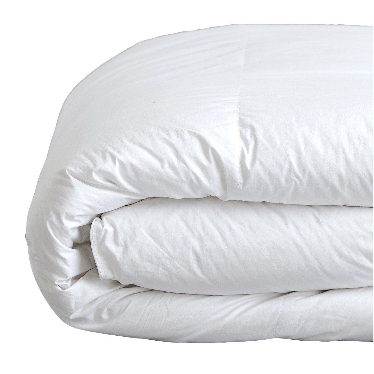 CDM product Down Under Filled in Canada Jasper 850 Loft Hutterite White Goose Down Duvet Comforter Blanket Queen Size 30oz with Corner Ties big image