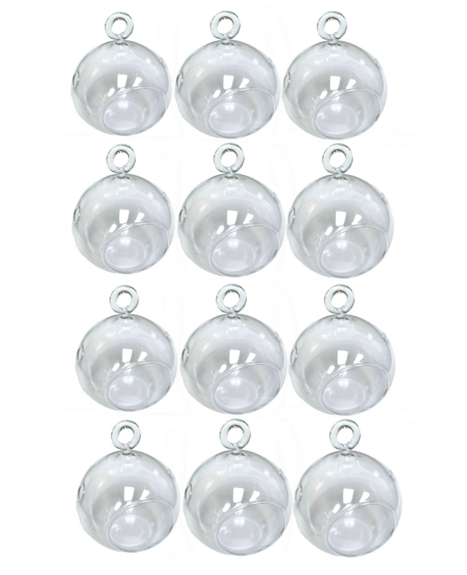 2 3/4'' Hanging Glass Globe Candle Holder Bulk Sale Pack of 12