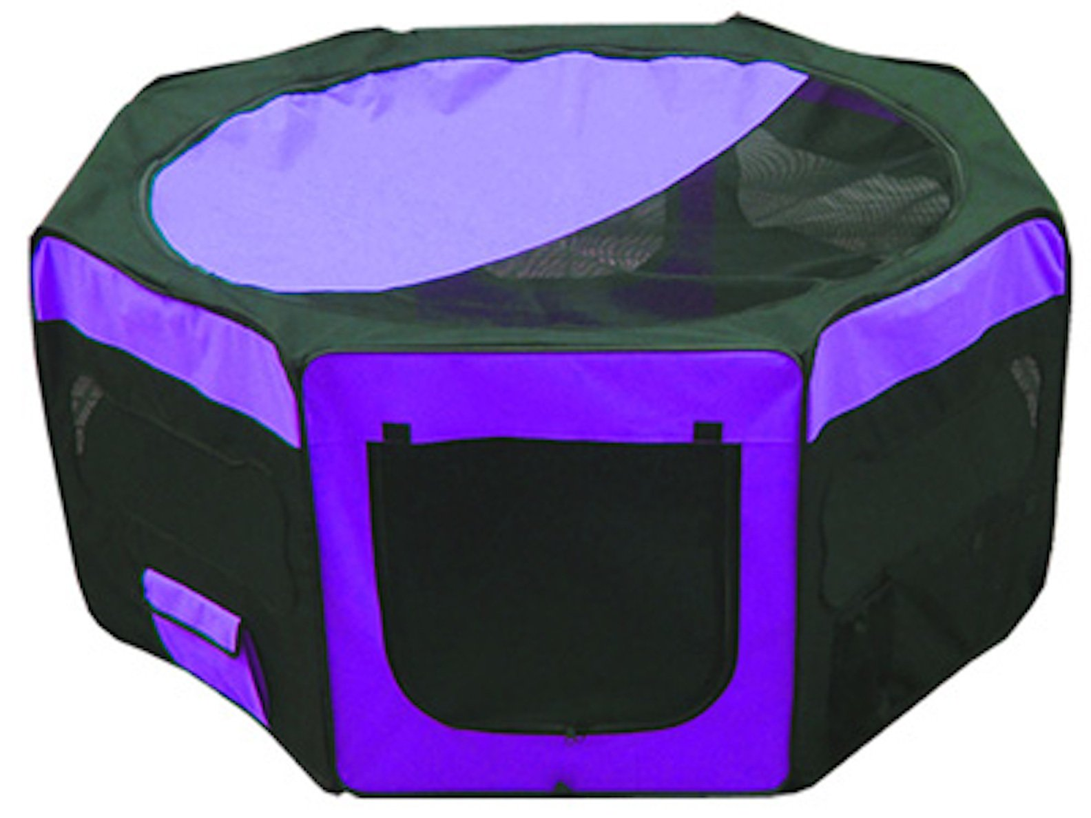 Iconic Pet Portable Pet Soft Play Pen, Purple, Small