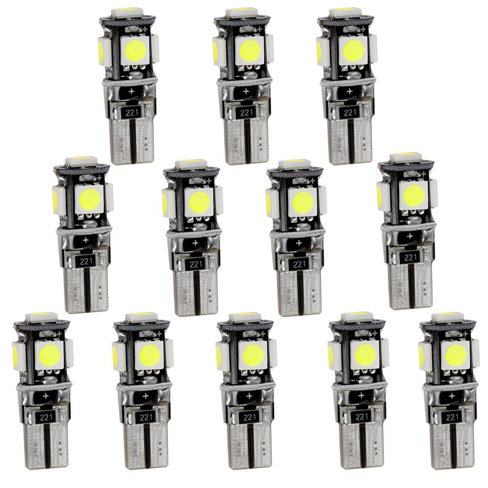 per 2008 3008 301 307 308 408 Super Luminoso Sorgente luci Interne a LED Lampada per Auto abitacolo Lampadine di Ricambio Bianca Confezione da 7
