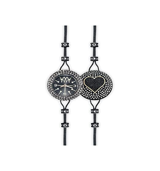 Reloj marco mavilla Pepito Reversible Corazón Purpurina pht03bkb: Amazon.es: Relojes