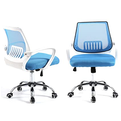 Prime Magshion Modern Mid Back Mesh Drafting Computer Office Desk Chair Commercial Task Chairs Blue White Uwap Interior Chair Design Uwaporg