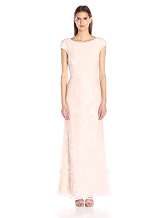 Amazon.com: Vera Wang Women&-39-s Sequins Chiffon Gown: Clothing