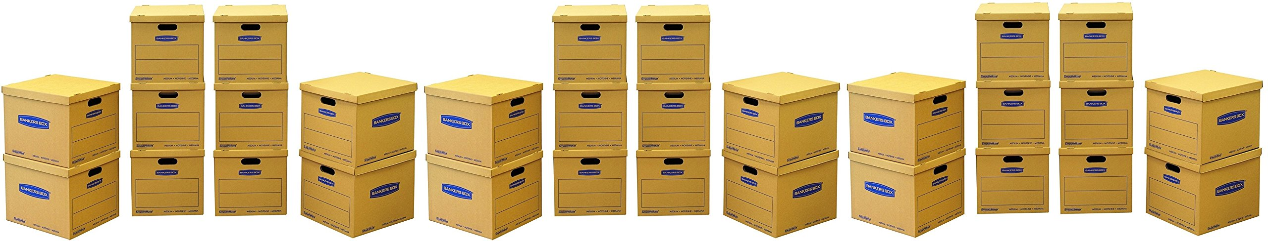 Bankers Box Smooth Move Classic Moving Boxes, Medium, (7717204) (30 Boxes Total)
