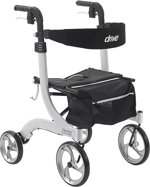 Amazon.com: Andador Nitro de 4 ruedas, RTL10266WT, Universal ...