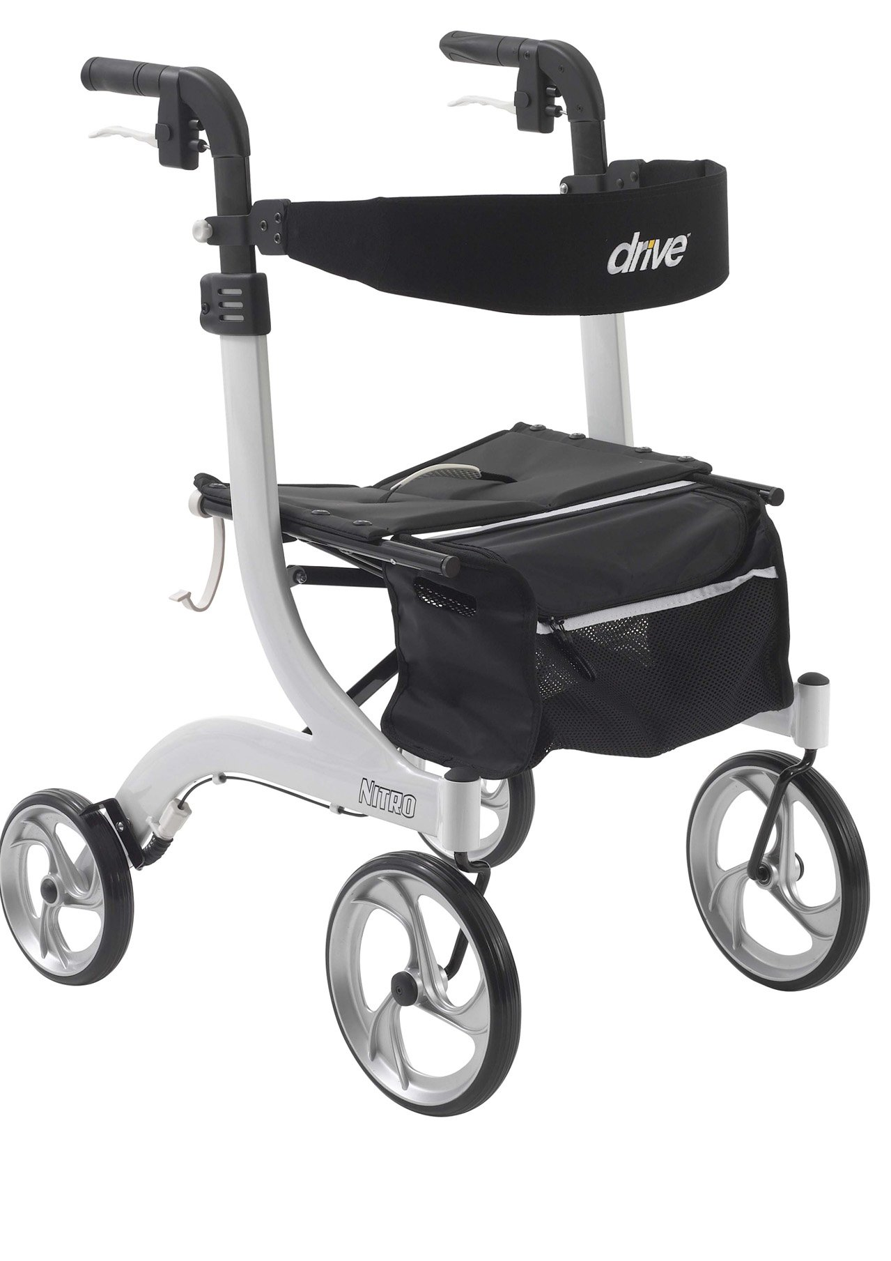 Drive Medical Nitro Euro Style White Rollator Walker, White by Drive Medical