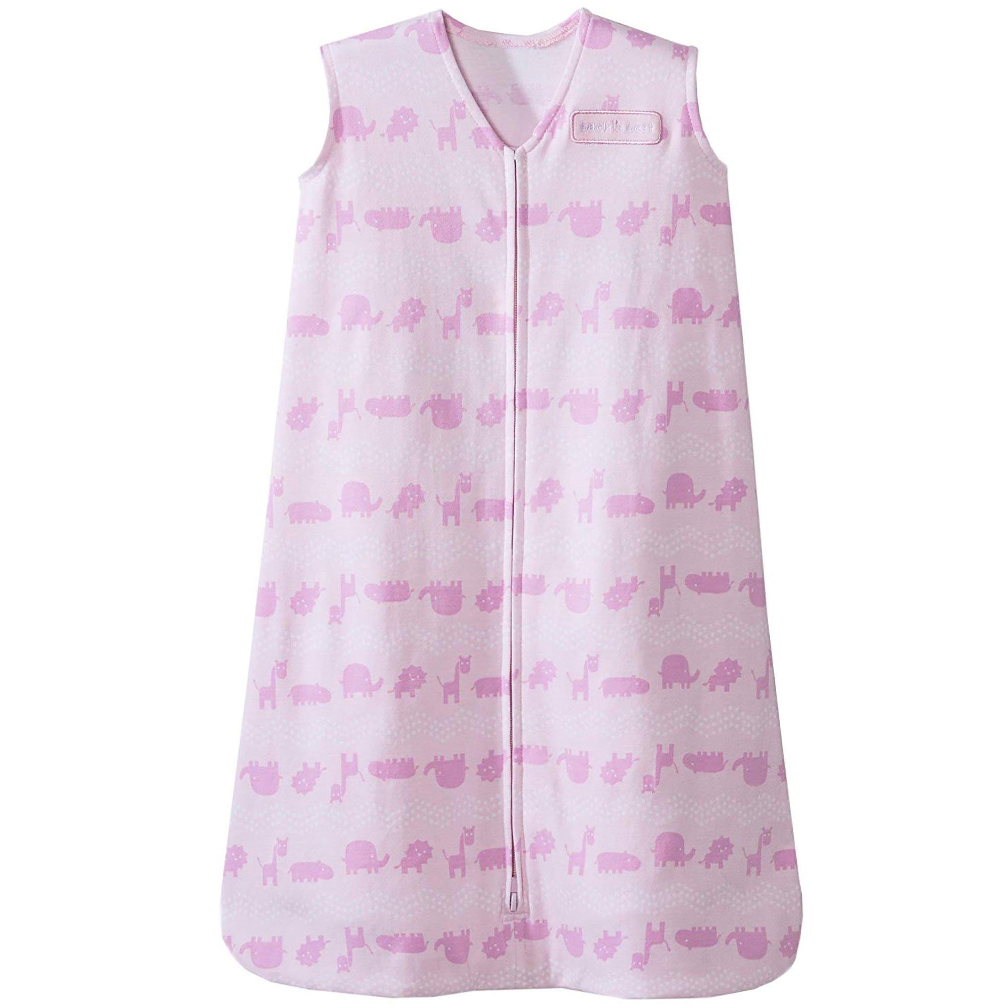 Halo Sleepsack Cotton Wearable Blanket, Pink Jungle Animal, Medium