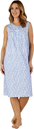 Slenderella ND3211 Women's Cotton Woven Night Gown Loungewear Nightdress
