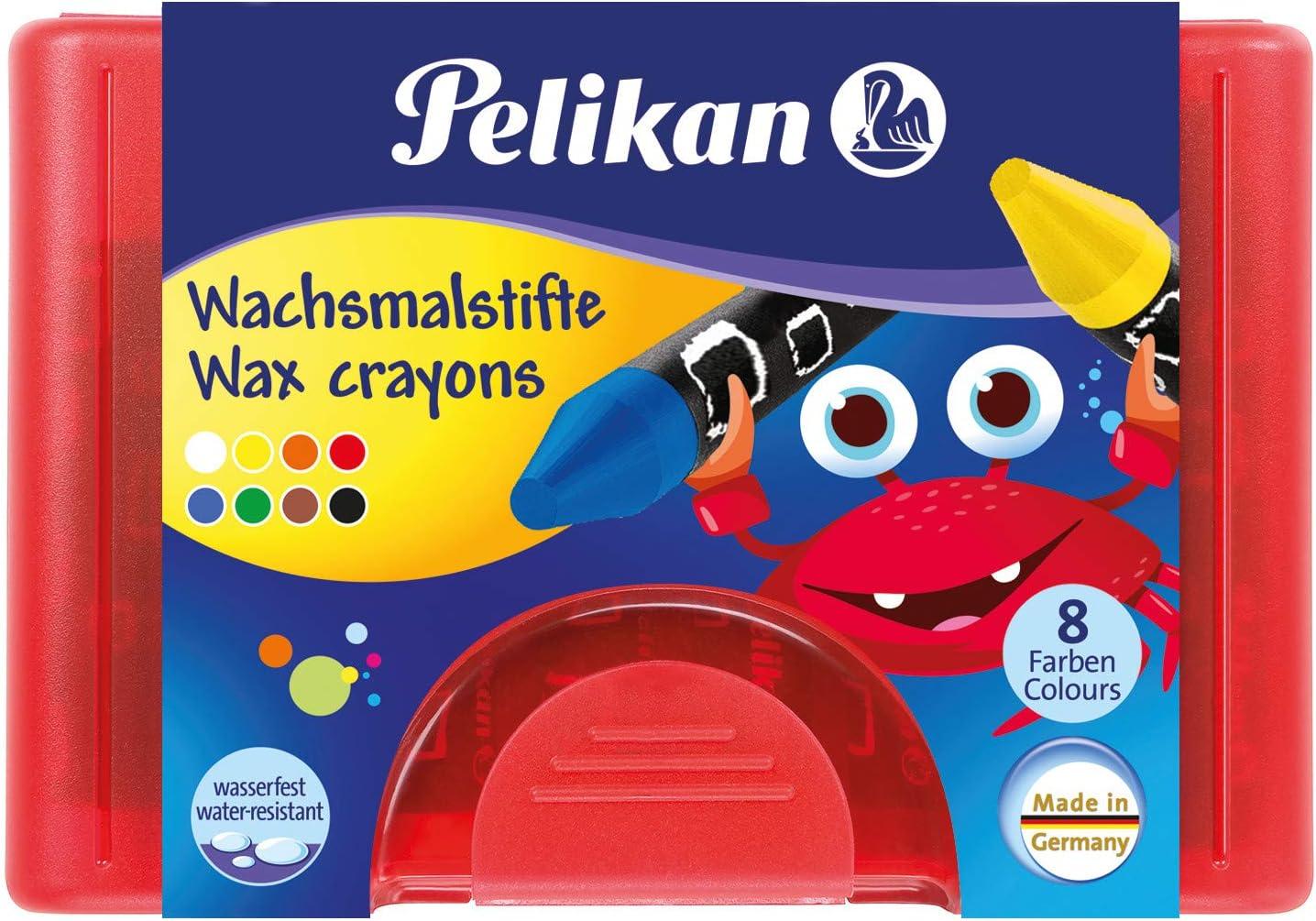 8 wasserfest Wachsmalstifte 665 Pelikan 723148 8 Stangen