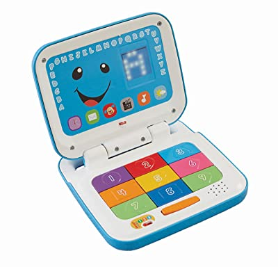 Fisher-Price Laugh & Learn Smart Stages Laptop, Blue/White