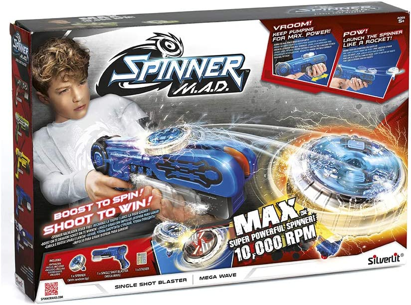 Rocco Giocattoli - Spinner Mad Blaster Single Shot Juego, Colores Surtidos, 86300