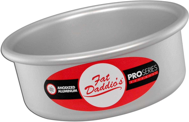 Fat Daddio's PRD-52 Round Cake Pan, 5 x 2 Inch, Silver